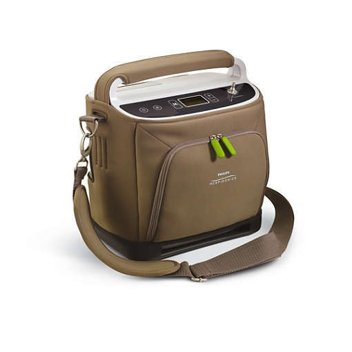 This is the Respironics SimplyGo portable oxygen concentrator.