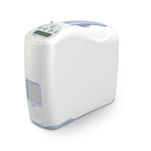 This is the Inogen G2 Portable Oxygen Concentrator with a 1-6 LPM equivalent flow capability.